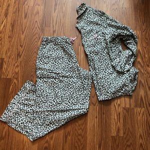 Victoria's Secret Classic Leopard Print Pajama Set